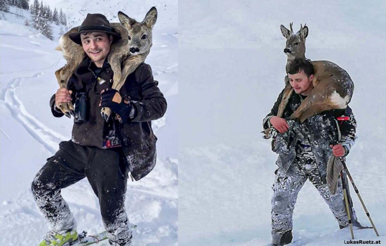 Appell an alle Wintersportler - Rehwildbergung im Sellraintal durch Neuschnee