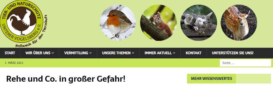 """Weitere Petition auf Change.org - """"Rehe und Co. in großer Gefahr!"""""""