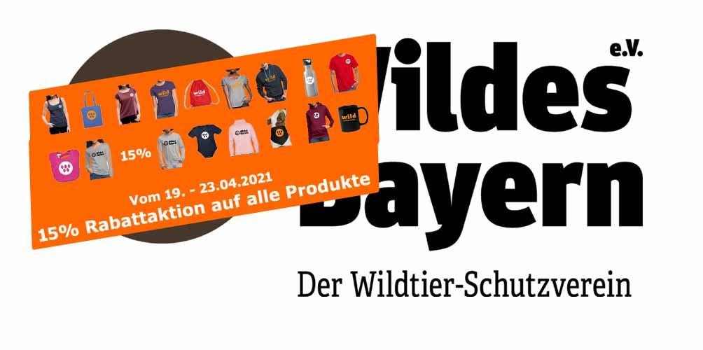 Rabattaktion - 15% auf alle Produkte im Wildes Bayern Spread Shirt Shop