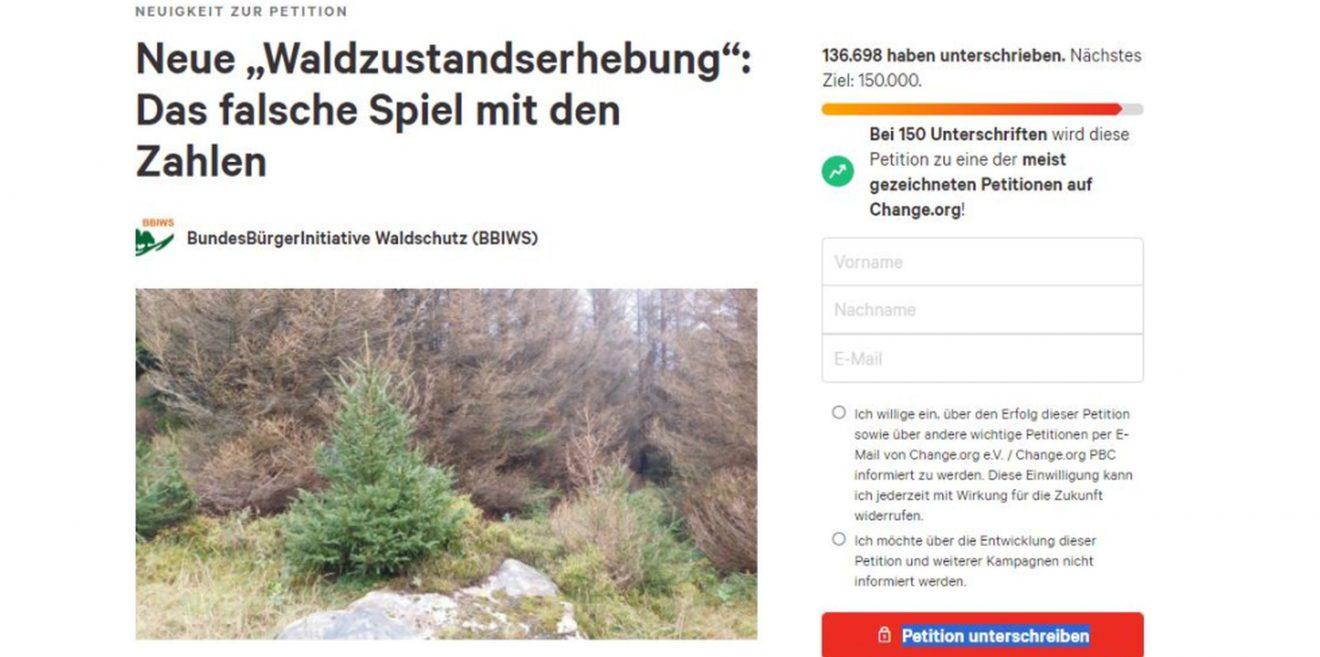 """""""Wälder sind keine Holzfabriken - es reicht!!!"""" - Petition auf Change.org für neues Bundeswaldgesetz"""