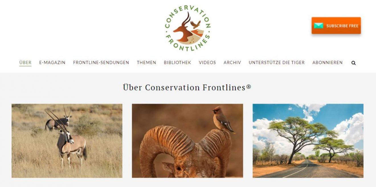 Conservation Frontlines - Informativer Newsroom mit vielen spannenden Infos
