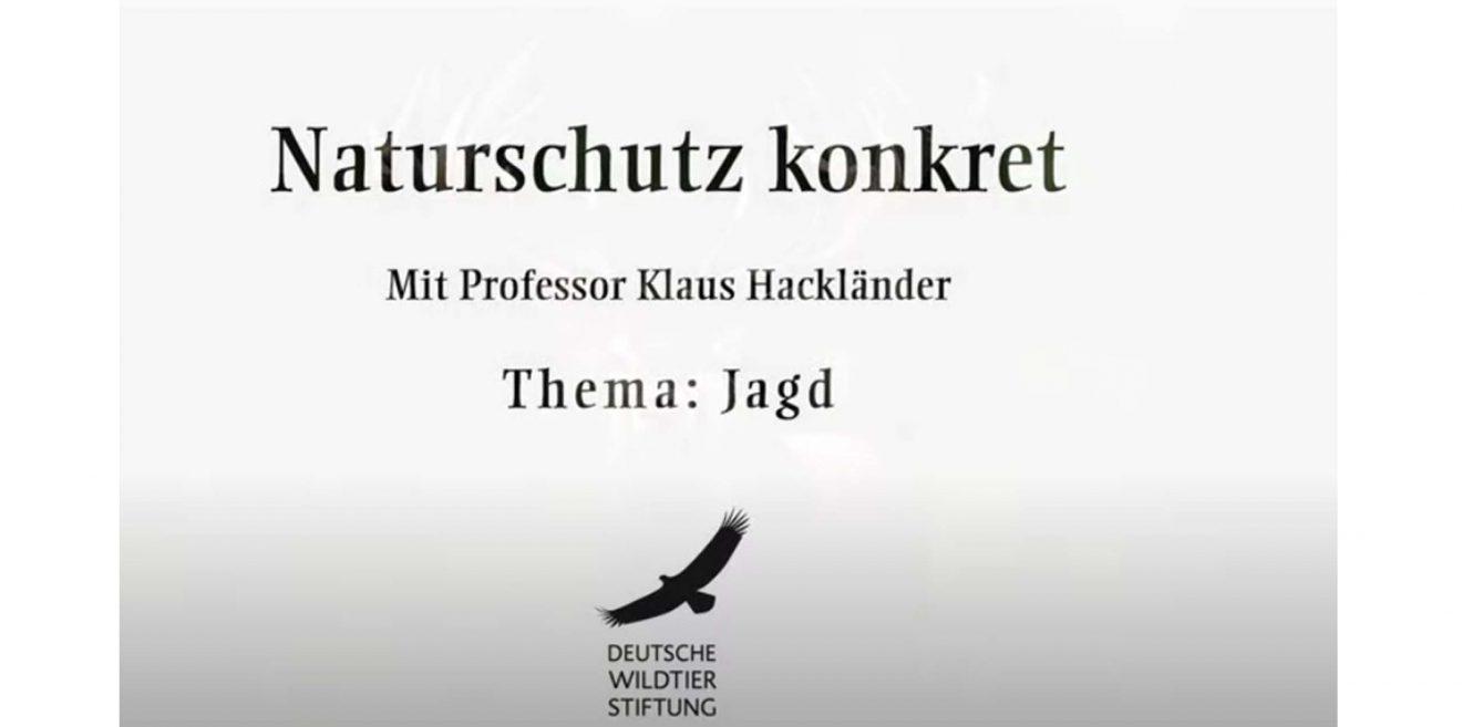 """Videobeitrag: """"Natur- und Artenschutz"""" - Prof. Dr. Klaus Hackländer im Gespräch"""