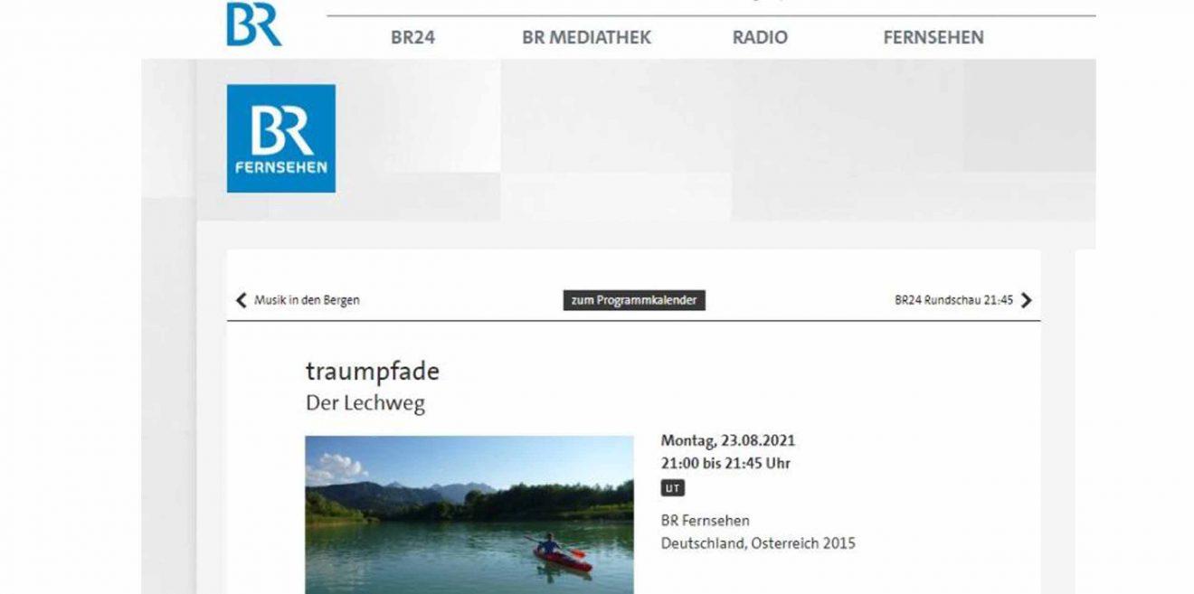 (c)Screenshot BR Fernsehen Trampfade Lechweg
